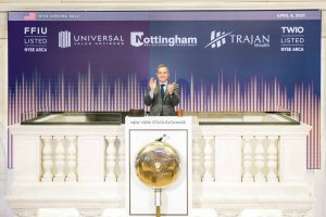 Nottingham rings Opening Bell in celebration of TWIO and FFIU ETFs. pooled investment.