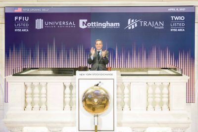 Nottingham rings Opening Bell in celebration of TWIO and FFIU ETFs